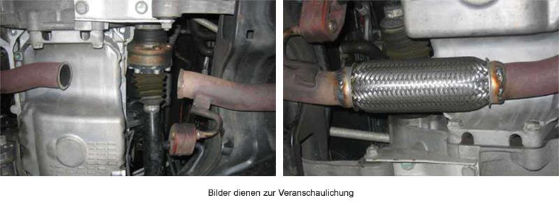 mm Auspuff Flexrohr Hosenrohr Katalysator Ø 70 x 100 Länge