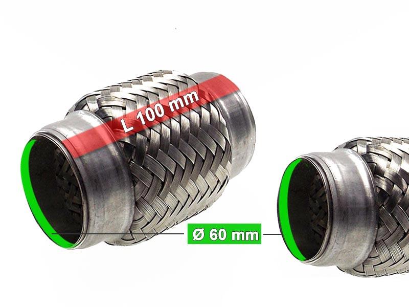 Auspuff Flexrohr Hosenrohr Katalysator Ø 75 x 250 Länge mm