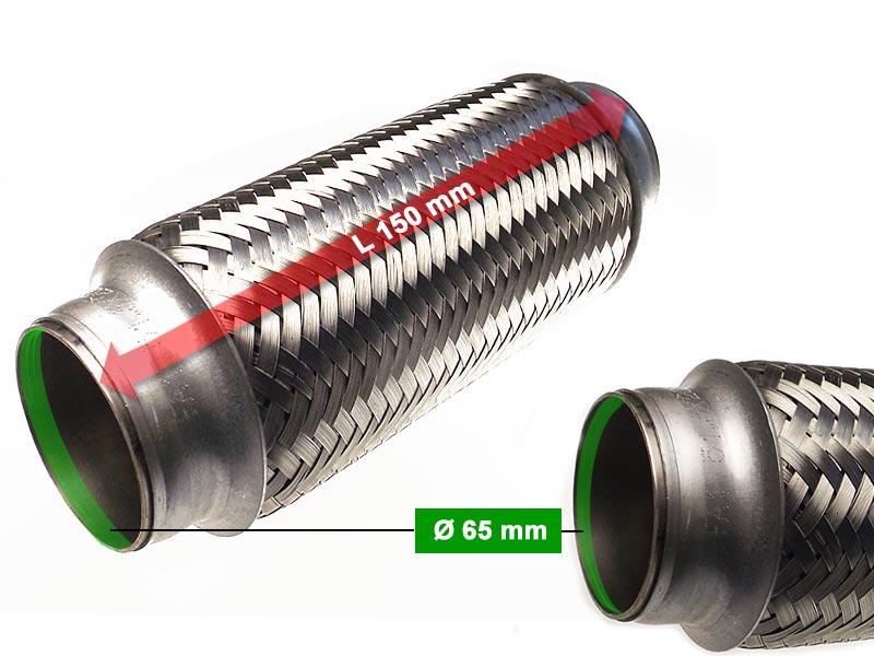 Auspuff Flexrohr Hosenrohr Katalysator Ø 75 x 150 Länge mm